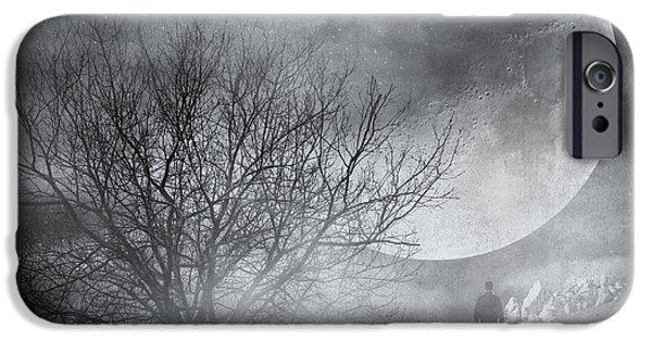 Poetic iPhone Cases - Dark night sky paradox iPhone Case by Taylan Soyturk