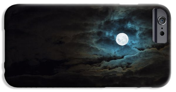 Moon iPhone Cases - Dark Rising iPhone Case by Andrew Paranavitana