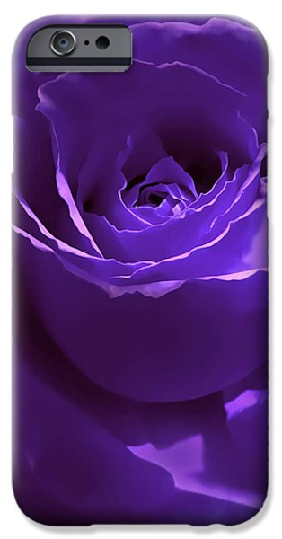 Dark Secrets Purple Rose iPhone Case by Jennie Marie Schell