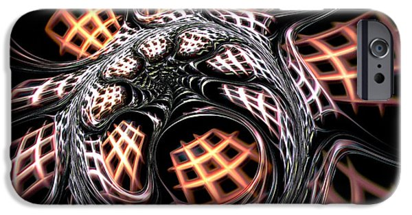 Cell Mixed Media iPhone Cases - Dark Side iPhone Case by Anastasiya Malakhova
