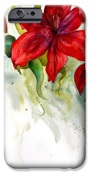 Fertility Paintings iPhone Cases - Dark Stars iPhone Case by Beverley Harper Tinsley