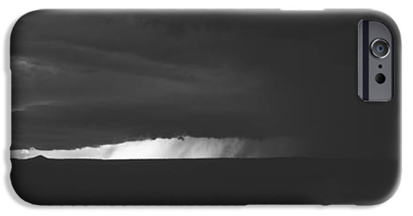 Storm iPhone Cases - Dark Storm Clouds In The Sky, New iPhone Case by Panoramic Images