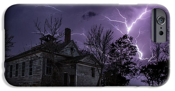 Dark Sky iPhone Cases - Dark Stormy Place iPhone Case by Aaron J Groen