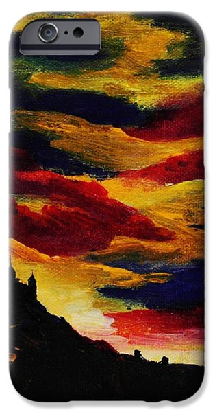 Dark Skies Jewelry iPhone Cases - Dark Times iPhone Case by Anastasiya Malakhova