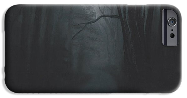 Fog Mist Pastels iPhone Cases - Dark Trail iPhone Case by Stacy Williams