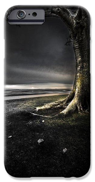 Eerie iPhone Cases - Dark Tree iPhone Case by Ben Paulsen