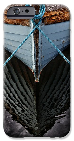 Sail Boat iPhone Cases - Dark waters iPhone Case by Stylianos Kleanthous