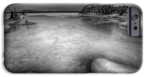 23 iPhone Cases - Darkness descends on the boat skeleton  iPhone Case by Jakub Sisak