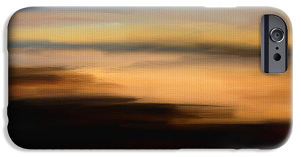 Abstract Seascape iPhone Cases - Darkness Dreams iPhone Case by Lourry Legarde