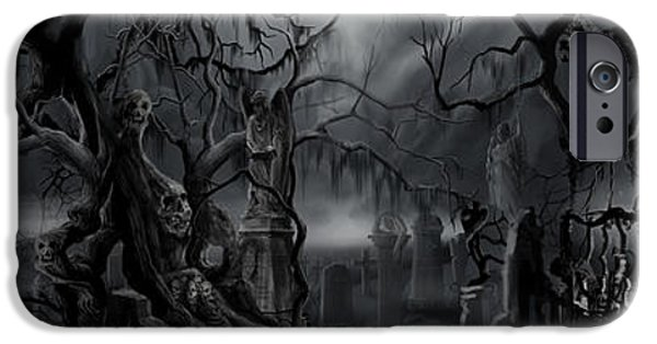 Creepy iPhone Cases - Darkness Has Crept in the Midnight Hour iPhone Case by James Christopher Hill