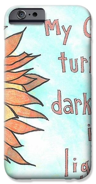 Darkness into Light iPhone Case by Dana Sorrell