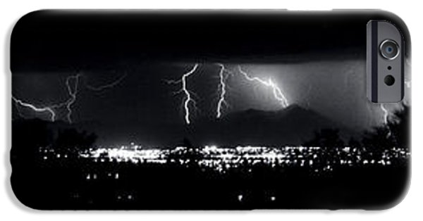 Electrical iPhone Cases - Darkness Symphony-15x72-Signed iPhone Case by J L Woody Wooden