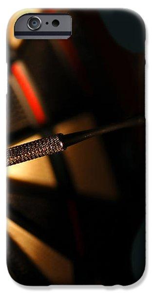Dart board in bar iPhone Case by Michal Bednarek