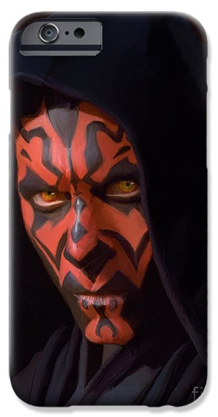 Fight Digital iPhone Cases - Darth Maul iPhone Case by Paul Tagliamonte