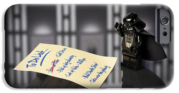 Lego iPhone Cases - Darths To Do List iPhone Case by Samuel Whitton