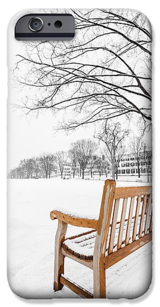 Hampshire iPhone Cases - Dartmouth Winter Wonderland iPhone Case by Edward Fielding
