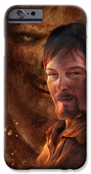 Dixon iPhone Cases - Daryl iPhone Case by Steve Goad
