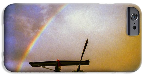 Clt iPhone Cases - Dash 8 and Rainbow iPhone Case by Greg Reed