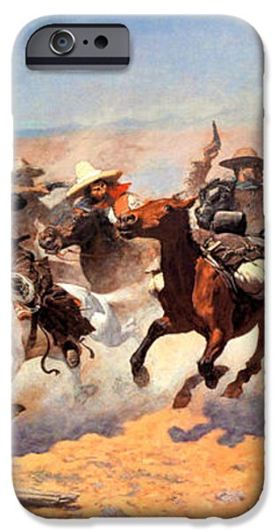 Dash For The Timber iPhone Case by Frederic Remington
