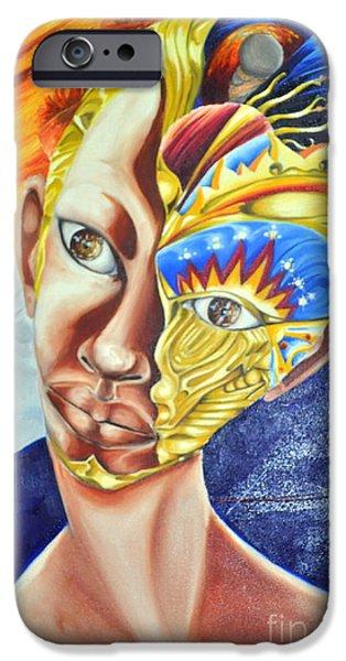 Enterprise Mixed Media iPhone Cases - Daughter of Enterprise-Mask Series 4 iPhone Case by Rhonda Falls