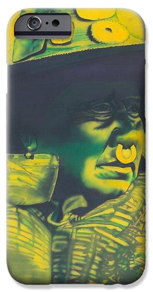 Airbrush iPhone Cases - Daughter of Nakoaktok iPhone Case by Louis Garding