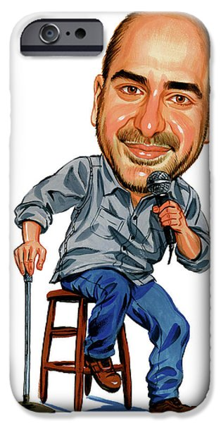 Comedian iPhone Cases - Dave Attell iPhone Case by Art