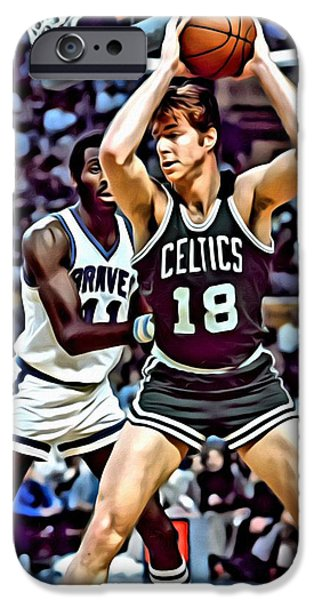 Slam Photographs iPhone Cases - Dave Cowens iPhone Case by Florian Rodarte