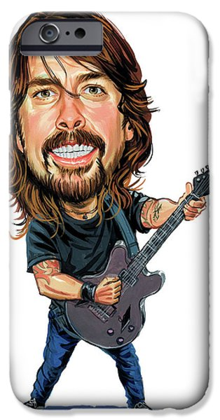 Art iPhone Cases - Dave Grohl iPhone Case by Art