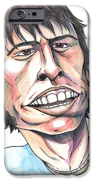 Foo Fighters iPhone Cases - Dave Grohl Caricature iPhone Case by John Ashton Golden