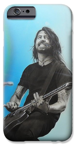 Musician Art iPhone Cases - Dave Grohl iPhone Case by Christian Chapman Art
