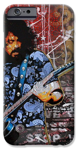 Street Mixed Media iPhone Cases - Dave Grohl iPhone Case by Gary Kroman