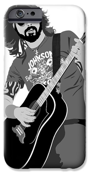 Dave Grohl iPhone Cases - Dave Grohl iPhone Case by Paul Dunkel