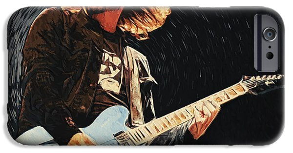 Dave Grohl iPhone Cases - Dave Grohl iPhone Case by Taylan Soyturk