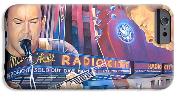 Best Sellers -  - Dave iPhone Cases - Dave matthews and Tim Reynolds at Radio City iPhone Case by Joshua Morton