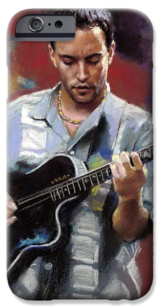 Dave Drawings iPhone Cases - Dave Matthews iPhone Case by Viola El