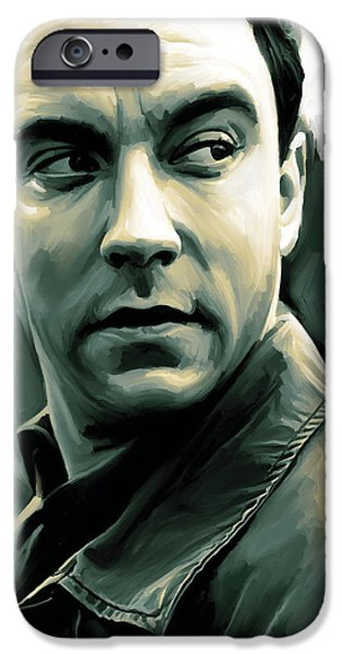 Dave Mixed Media iPhone Cases - Dave Matthews Artwork iPhone Case by Sheraz A