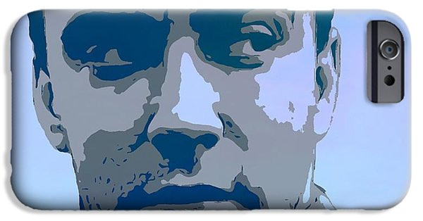 Dave Mixed Media iPhone Cases - Dave Matthews Blue iPhone Case by Dan Sproul
