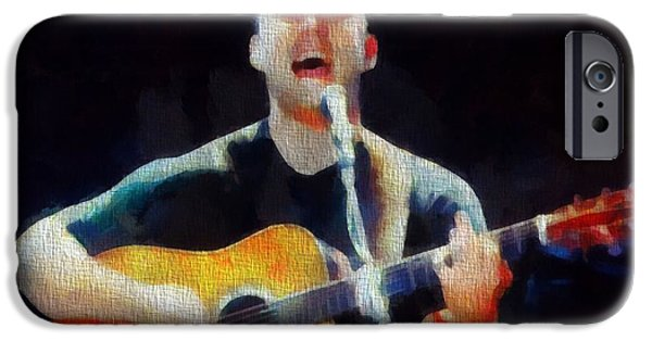 Dave Mixed Media iPhone Cases - Dave Matthews In Concert iPhone Case by Dan Sproul