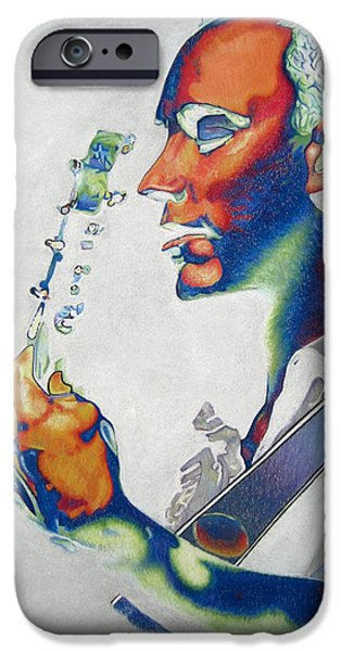 Dave Drawings iPhone Cases - Dave Matthews iPhone Case by Joshua Morton