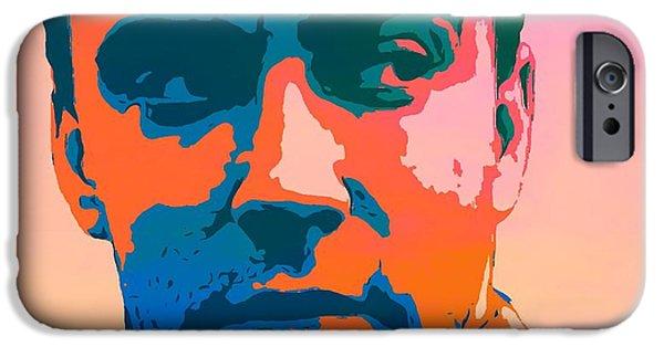 Dave Digital Art iPhone Cases - Dave Matthews Pop Art iPhone Case by Dan Sproul