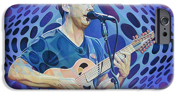 Dave iPhone Cases - Dave Matthews Pop-Op Series iPhone Case by Joshua Morton