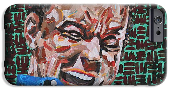 The Dave Matthews Band Paintings iPhone Cases - Dave Matthews Portrait iPhone Case by Robert Yaeger