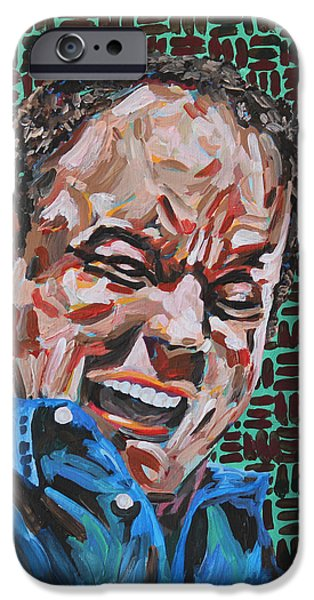 Obama iPhone Cases - Dave Matthews Portrait iPhone Case by Robert Yaeger