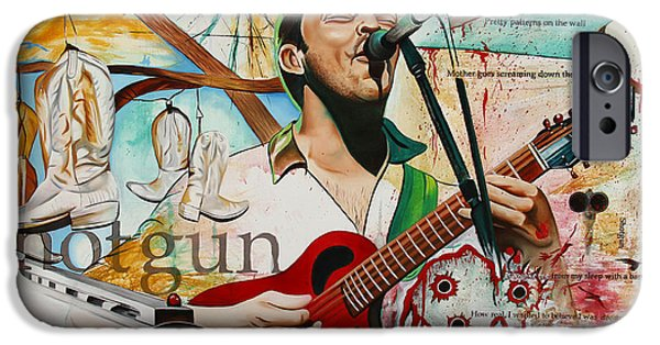 Dave Paintings iPhone Cases - Dave Matthews Shotgun iPhone Case by Joshua Morton