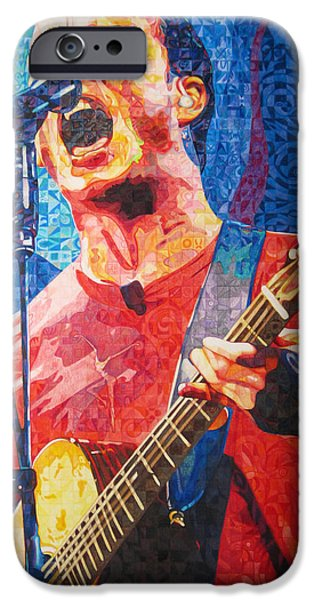 Best Sellers -  - Dave iPhone Cases - Dave Matthews Squared iPhone Case by Joshua Morton