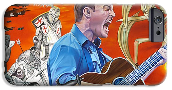 Famous Musician iPhone Cases - Dave Matthews The Last Stop iPhone Case by Joshua Morton