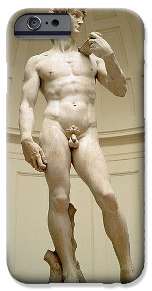 Sculptures iPhone Cases - David iPhone Case by Michelangelo Buonarroti