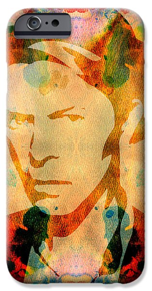 Bowie iPhone Cases - David Bowie 2 iPhone Case by Andrew Fare