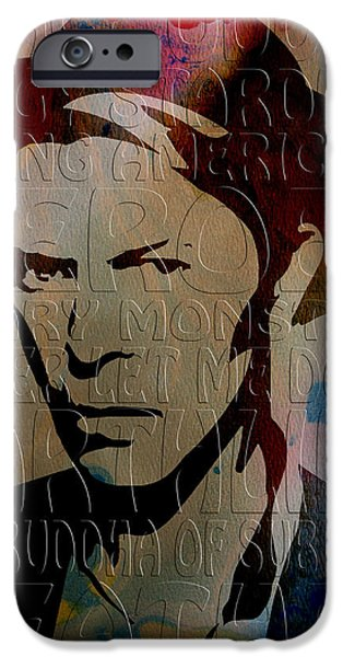 Bowie iPhone Cases - David Bowie iPhone Case by Andrew Fare