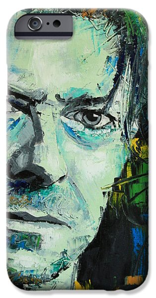 Bowie iPhone Cases - David Bowie iPhone Case by Richard Day